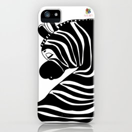 Zzzzing Zebra iPhone Case