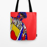 biggie Tote Bags featuring BIGGIE by Fake Wealth