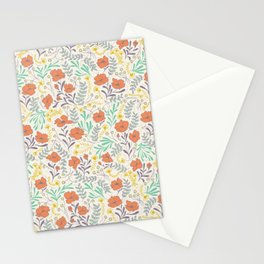 Colorful Peonies Stationery Cards