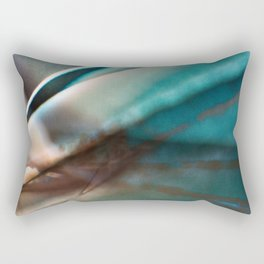 Blue and Brown Abstract Rectangular Pillow