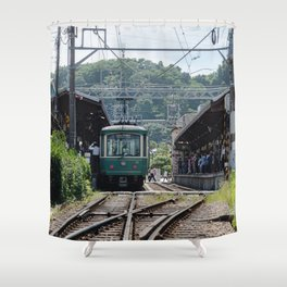 Kamakura Enoden Shower Curtain