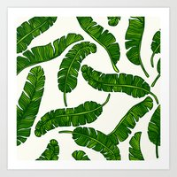Banana leaves print Art Print