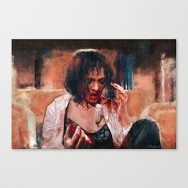 Adrenaline Shot - Mia Wallace - Pulp Fiction Canvas Print