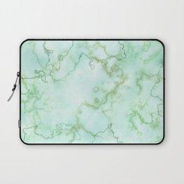 Marble Smaragd Gold Laptop Sleeve