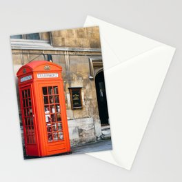 Red telephone box in London Stationery Cards