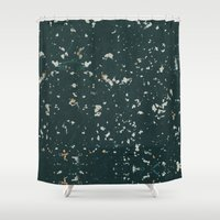 stone Shower Curtains featuring Stone by Judith Abbott