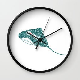 Swimming with the stingray Wall Clock