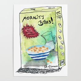 Super Cereal Morality Bites - Contains Free Toy! Poster