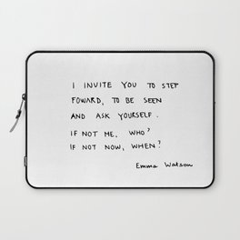 if not me, who? if not now, when? Laptop Sleeve