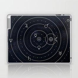 Planets symbols solar system Laptop & iPad Skin