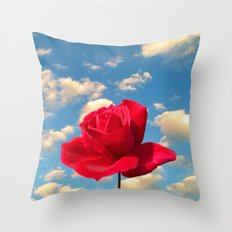 air rose Throw Pillow