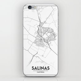 Minimal City Maps - Map Of Salinas, California, United States iPhone Skin