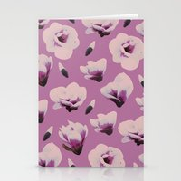 magnolia Stationery Cards featuring Magnolia by Georgiana Paraschiv