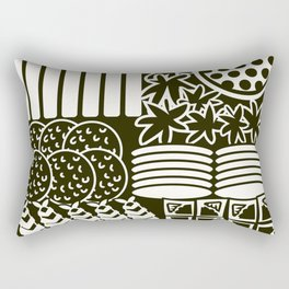 Jubako No4 Monochrome Rectangular Pillow