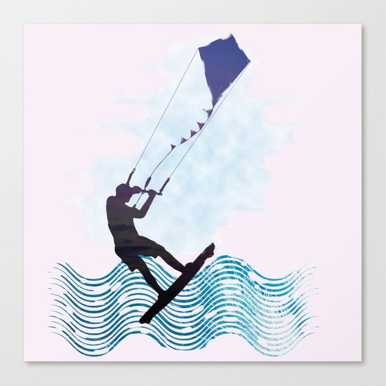 [mis]interpreting kiteboarding Canvas Print