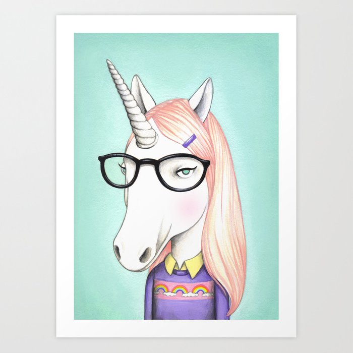 Nerdicorn Art Print