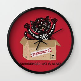 Am I Alive Schrödinger Cat Wall Clock
