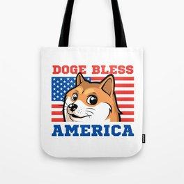 Doge Bless America Tote Bag