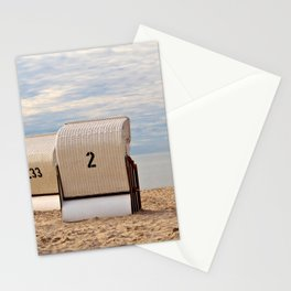two lonely beach chairs Stationery Cards
