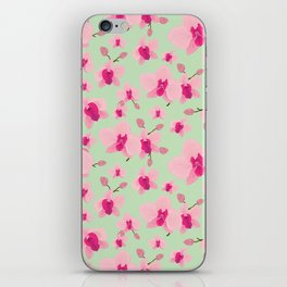 Pink orchid iPhone Skin