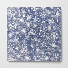 Snowflakes in the forest Metal Print
