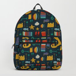 beach gear navy Backpack