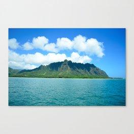 Oahu Hawaii Coast Mountains Canvas Print