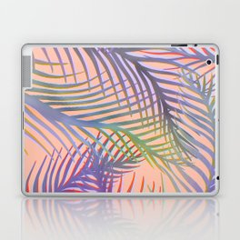 Palm Leaves Pattern - Purple, Peach, Blue Laptop & iPad Skin
