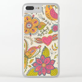 Floral Romantic Pattern 07 Clear iPhone Case