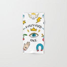 Wayward One - Old School Tattoo Flash Art Hand & Bath Towel