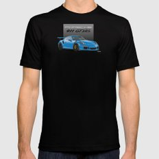 2016 Porsche 911 GT3 RS in Mexico Blue MEDIUM Black Mens Fitted Tee