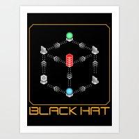 Deus Ex - Black Hat Art Print