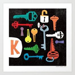"""K"" Art Print"