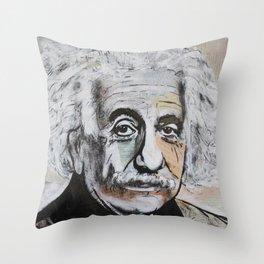 Albert Einstein E=mc2 Throw Pillow