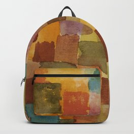 """Paul Klee """"Untitled 1914a"""" Backpack"""