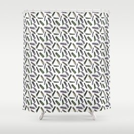 wood pieces Shower Curtain