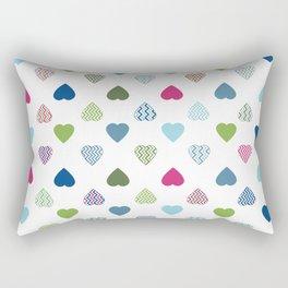 AFE Colorful Hearts Rectangular Pillow