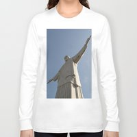 christ Long Sleeve T-shirts featuring Christ Redentor by Love the Shoot