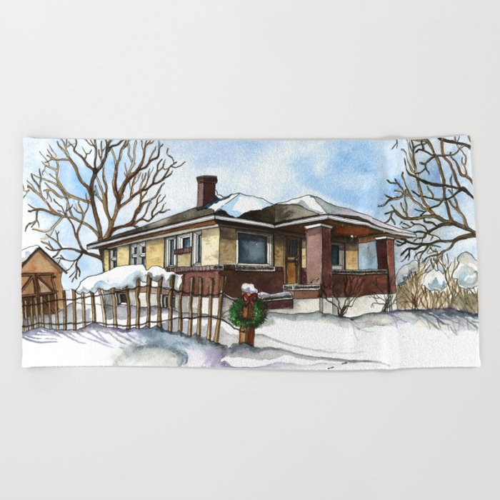 A Bungalow in the Country Beach Towel