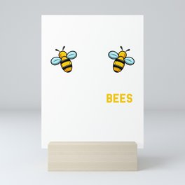 Boobees Boobeez Apparel for Beekeepers and Bee Saver Mini Art Print