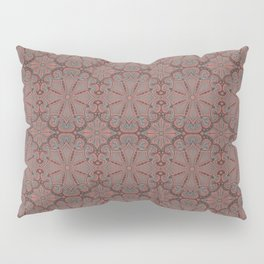 Peach, gray and chocolate lace Pillow Sham