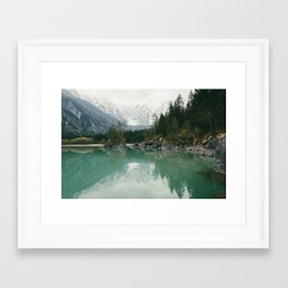 Turquoise lake - Landscape and Nature Photography Framed Art Print