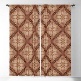 Copper Diamond Pattern Blackout Curtain