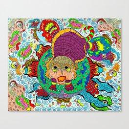 Supersonic Armadillo Canvas Print