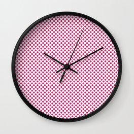 Pink Yarrow Polka Dots Wall Clock
