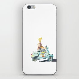 Scooter guy in Ubud iPhone Skin
