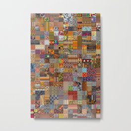 Ethnic Patterns Metal Print