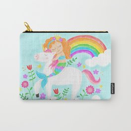 Unicorns, Mermaids & Rainbows...Oh My! Carry-All Pouch
