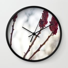 Red of three Wall Clock