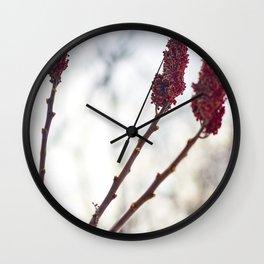 Red of three Wall Clock